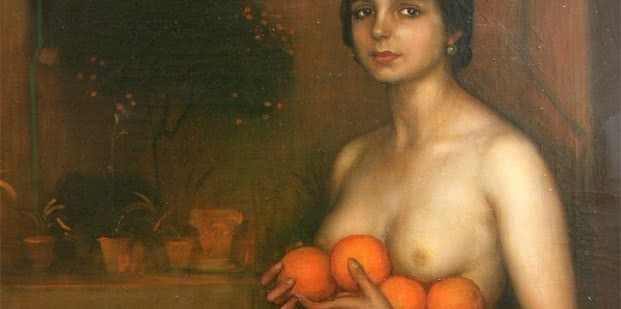 Julio Romero de Torres. Naranjas y limones, 1928 (detalle)