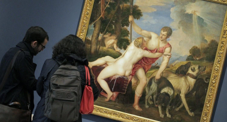 Las primeras poesías de Tiziano para Felipe II. Foto: Sonia Aguilera.