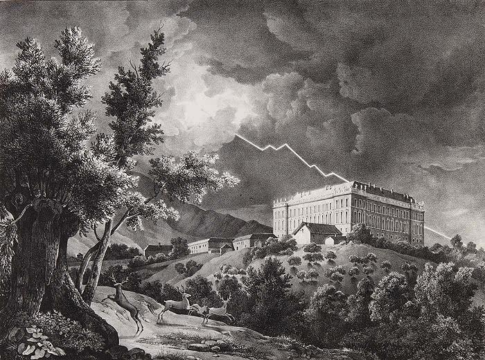 Fernando Brambilla. Vista del Real Palacio de Riofrío