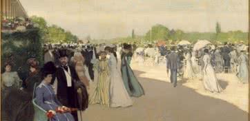 Ramon Casas. En el hipódromo. Oleo sobre lino. (1899-1901).