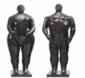 Fernando Botero. Adán y Eva, 1990