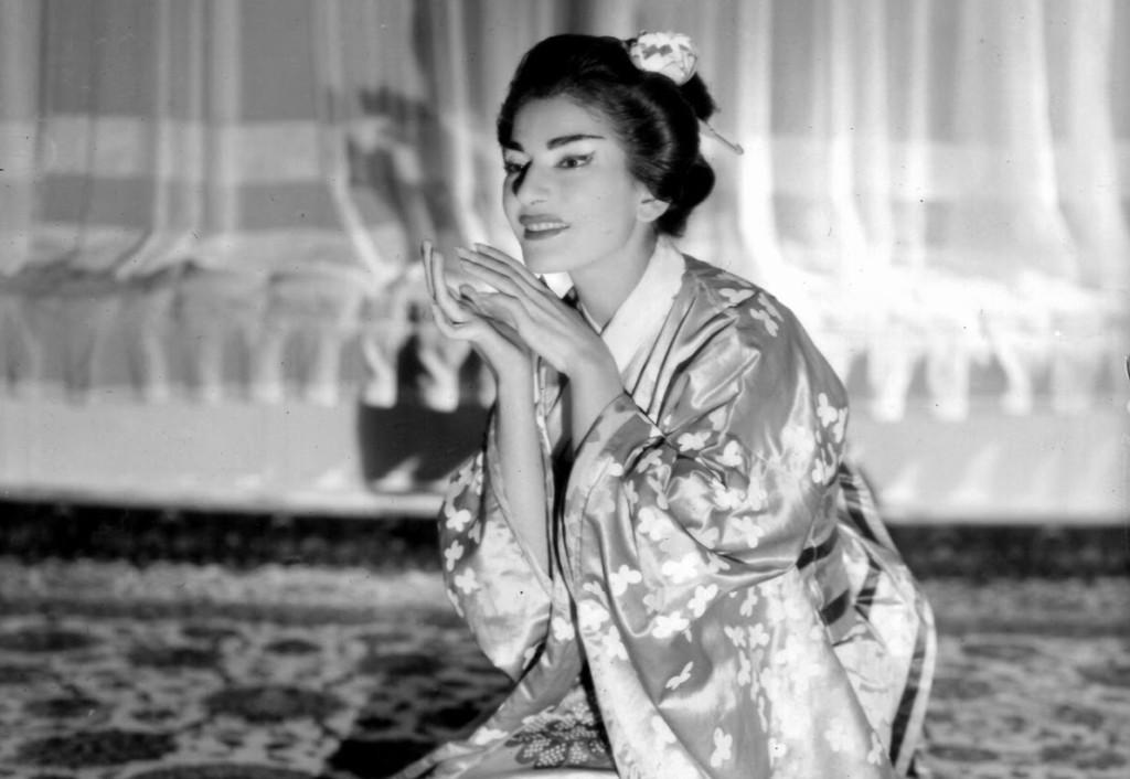 La gran María Callas caracterizada como Cio-Cio San.