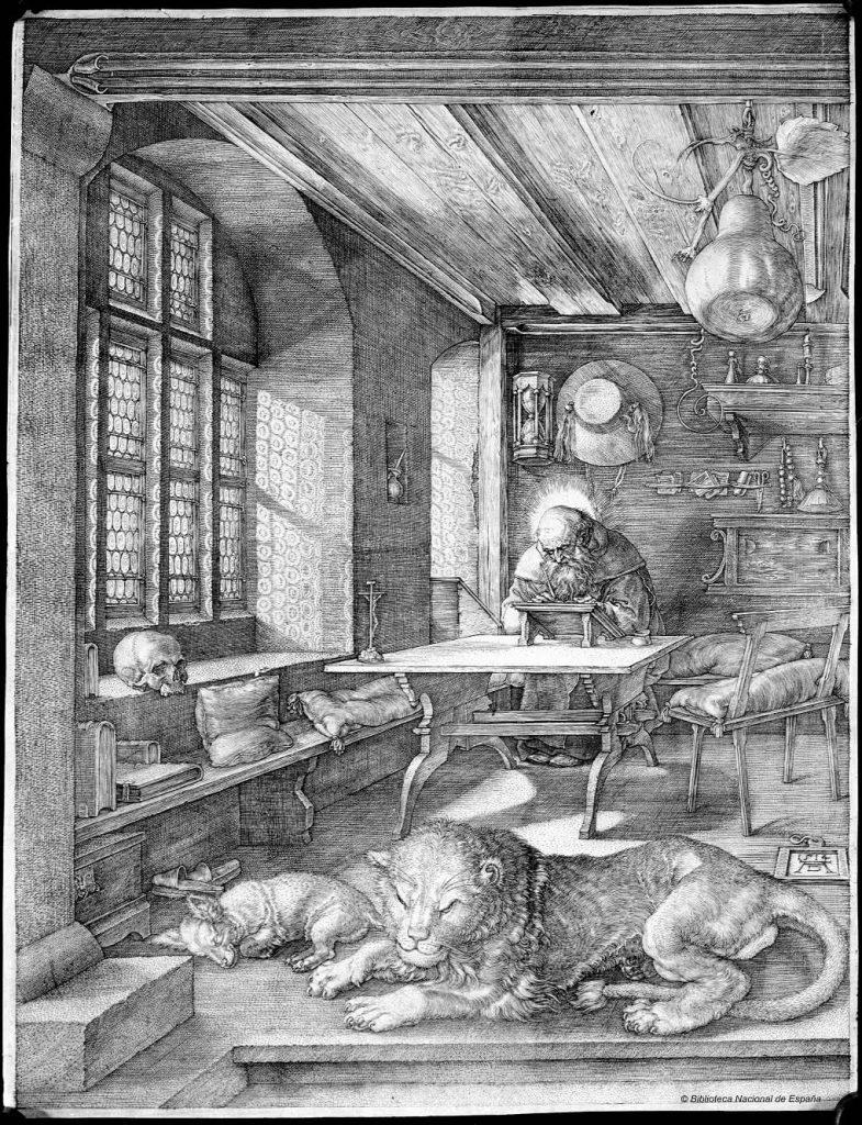 Albrecht Dürer. San Jerónimo en su celda. Biblioteca Nacional de España