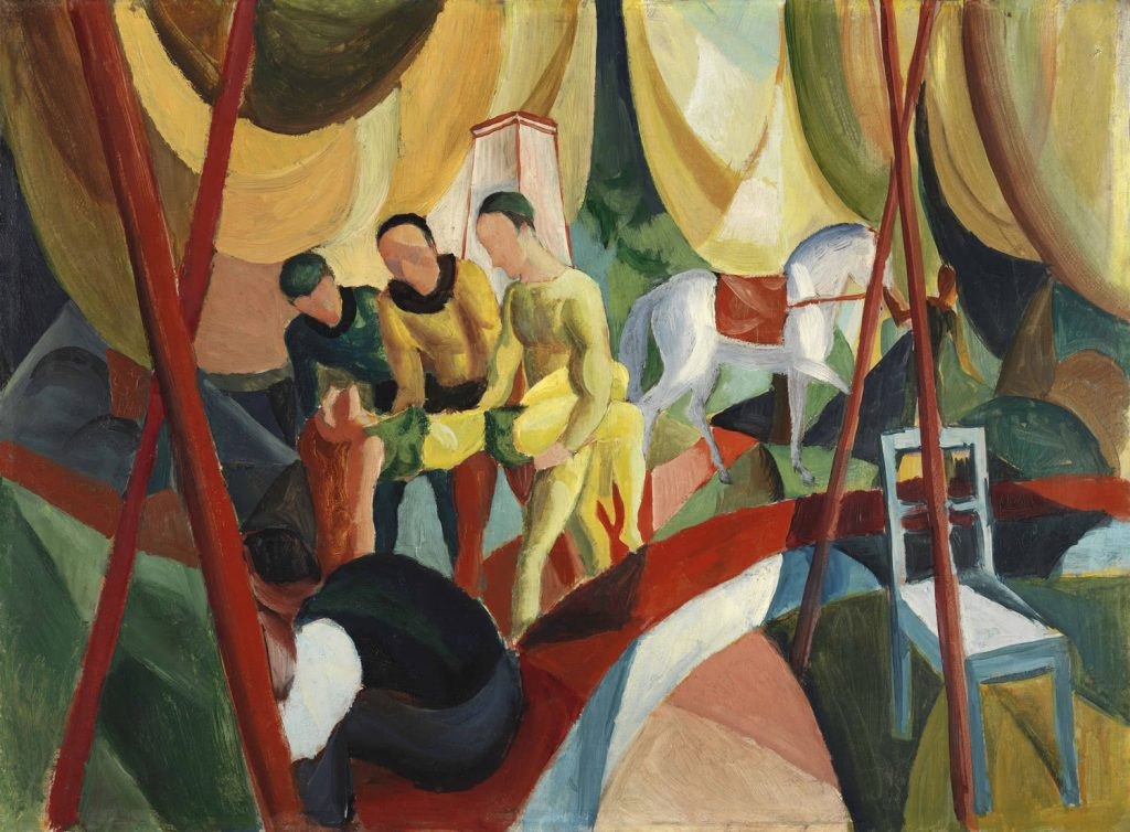 August Macke. Circo, 1913. Museo Thyssen-Bornemisza. Madrid
