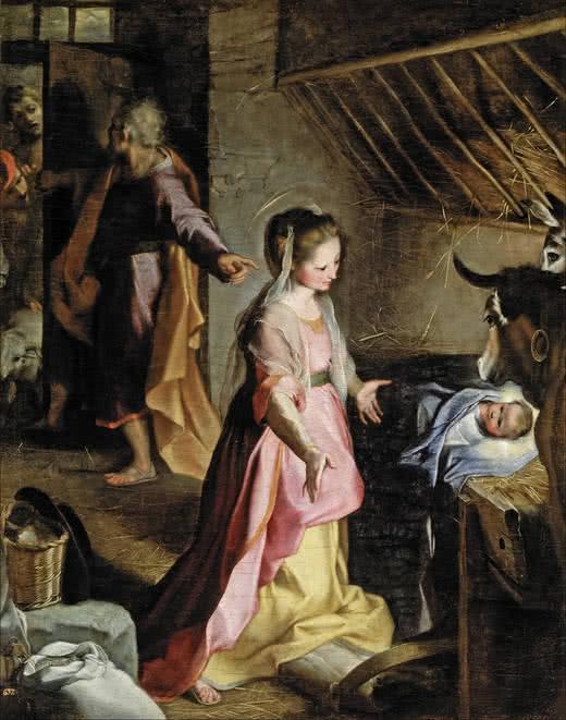 Federico Barocci. El Nacimiento, 1597. Museo del Prado