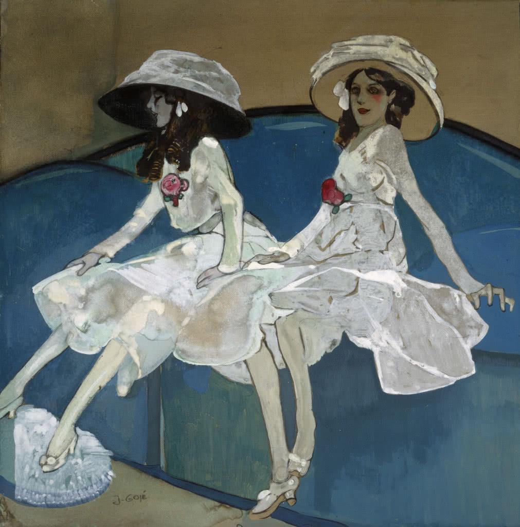 Francesc Xavier Gosé, Les dues germanes. c. 1910, Museu Nacional d'Art de Catalunya