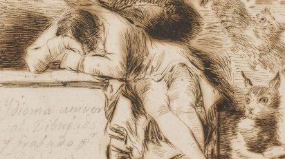 Francisco de Goya. 'El sueño de la razon produce monstruos' (1797-1799)