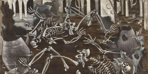 Maruja Mallo. Antro de fósiles, 1930