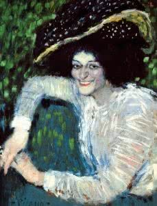 Pablo Picasso. Buste de femme sonriente, 1901