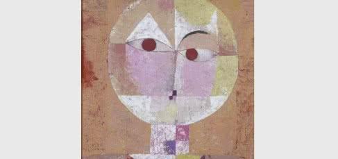 Paul Klee. Senecio (Baldgreis), 1922. Óleo sobre cartón, 40.3 x 37.4 cm. Kunstmuseum Basel © Kunstmuseum Basel.