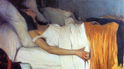 Santiago Rusiñol. La morfina (1894). Museu Cau Ferrat. Sitges.