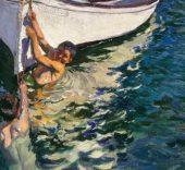 Joaquin-Sorolla-El-bote-blanco-Javea-1905