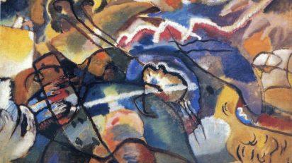 Vasili Kandinsky. Composición con borde blanco. 1913. Detalle.