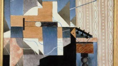 Gris, Juan. La guitare sur la table, 1913. Óleo sobre lienzo. 58 x 73,5 cm.