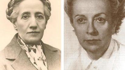 A la izquierda, Matilde Ras; a la derecha, Elena Fortún.