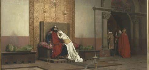 Jean-Paul Laurens. La excomunión de Roberto II el Piadoso. 1875. © RMN-Grand Palais (musée d'Orsay) / Hervé Lewandowski.