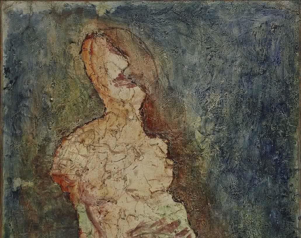 Jean Fautrier. Sarah, 1943 (detalle).