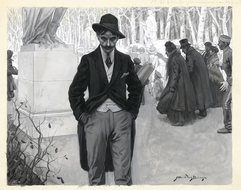 Narciso Méndez Bringa. El filósofo y la mariposa, 21 de marzo de 1909