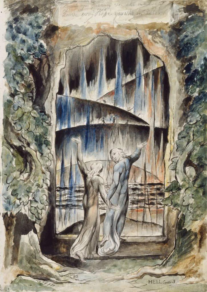 William Blake. Las ilustraciones de la Divina Comedia de Dante (1)