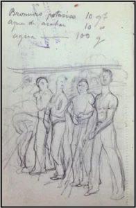 Lápiz negro sobe hoja de bloc. 14,3 x 9,4 cm. 1917. Archivo Enrique Lafuente Ferrari. Real Academia de Bellas Artes San Fernando, Madrid.