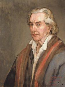 Autorretrato de Evaristo Valle como Colón.