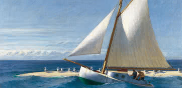 Edward Hopper. El Martha Mckeen de Wellfleet, 1944