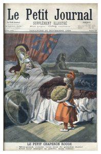 """""""Caperucita Roja"""". Caricatura sobre Fachoda y las ambiciones de la """"Perfide Albion"""". Grabado de F. MÈaulle. """"Le Petit journal"""", 20/11/1898."""