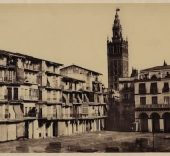 Gustave de Beaucorps. Sevilla. Plaza Mayor, 1858