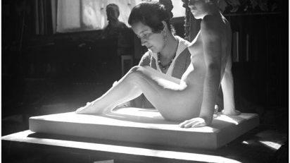 Helena Sorolla trabajando en 'Desnudo de mujer'.