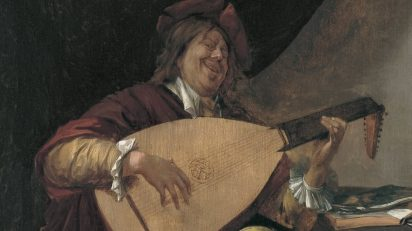 Jan Havicksz. Steen. Autorretrato con laúd. c. 1663-1665. Museo Thyssen-Bornemisza.