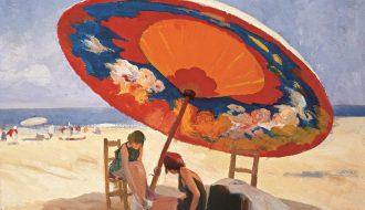 Lluis Masriera. Bajo la sombrilla, 1926