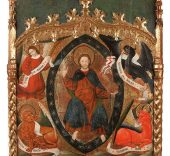 Lote 63-Atribuida a Pere Garcia Benavarre-Dios Padre y el Tetramorfos