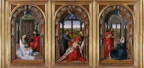 Rogier van der Weyden. Tríptico de Miraflores, 1440