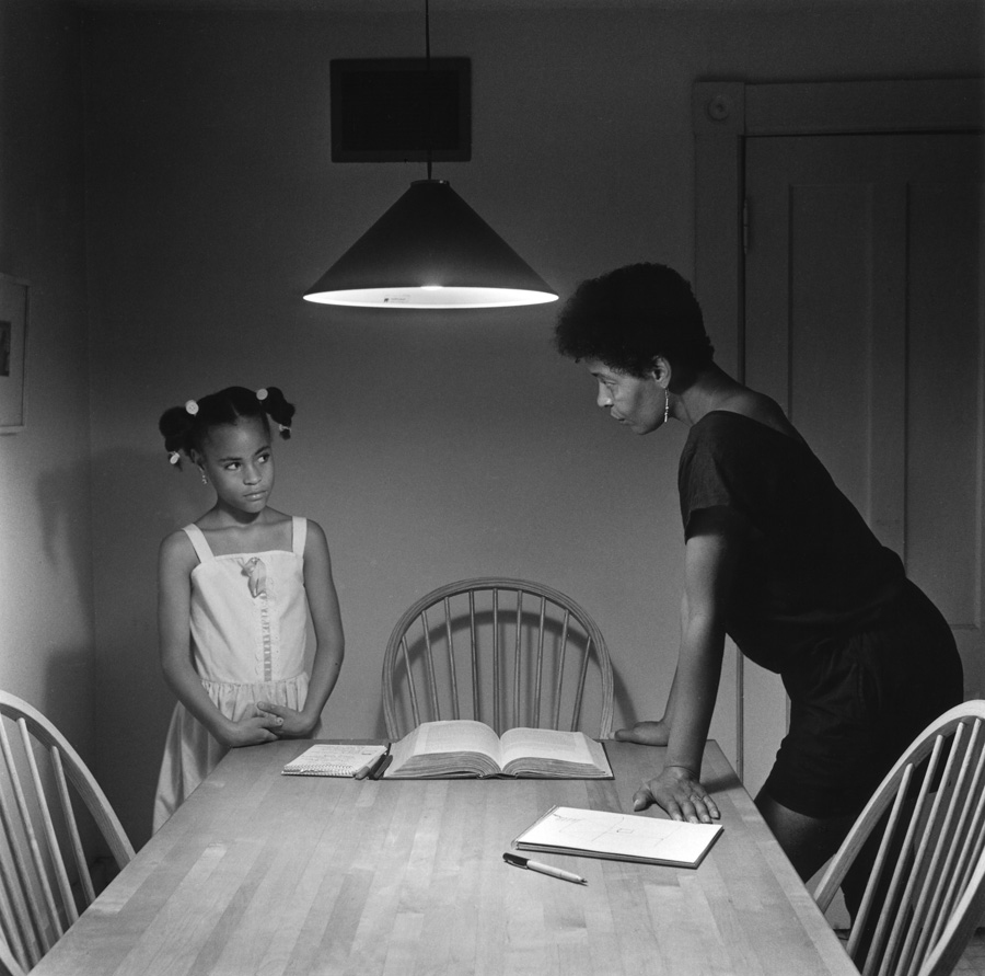 Carrie Mae Weems. Triptych with Daughter left panel (Kitchen Table Portfolio). 1990.