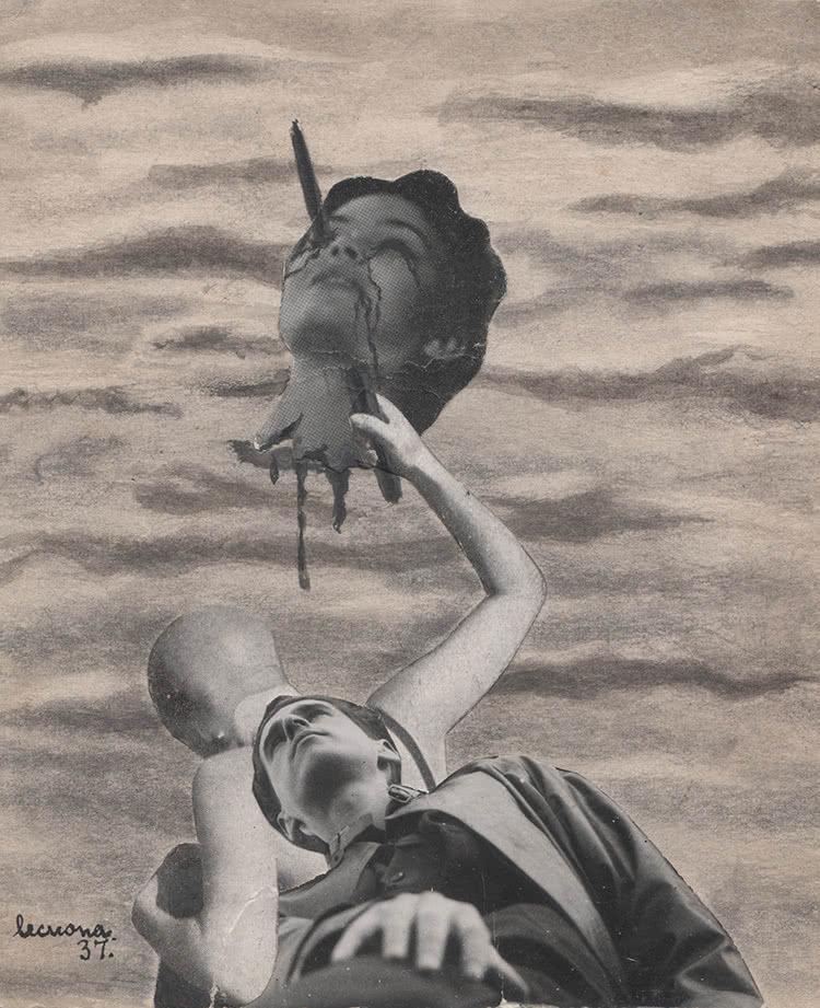 Nicolás de Lekuona. Cabeza amputada (autorretrato). 1937.