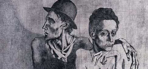 Pablo Picasso. La comida frugal (detalle). 1904.