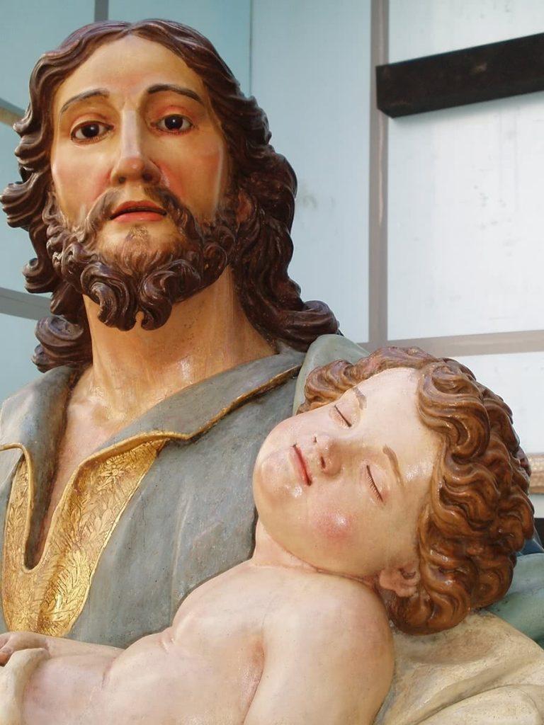 José Luján Pérez. San José con el Niño dormido (detalle), 1808