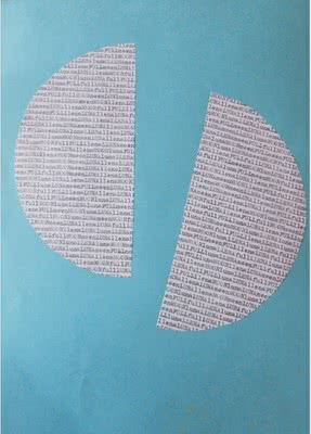 Poesía visual de Nel Amaro, 'Moonlight', 1990
