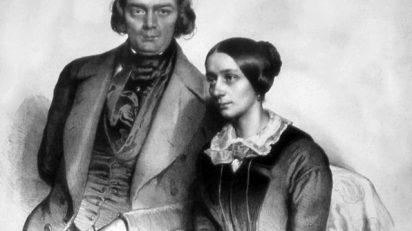 Robert Schumann y Clara Wieck. (Imagen: Eduard Kaiser (+1895), Foto Peter Geymayer - Eigenes (Wien))