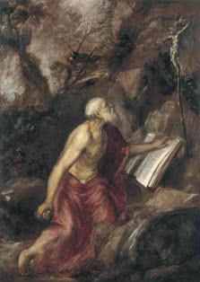 Tiziano. San Jerónimo penitente. c. 1575. Óleo sobre lienzo. 137 x 97 cm. Museo Thyssen-Bornemisza, Madrid.
