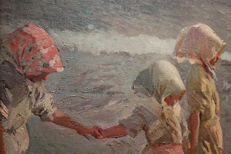 Joaquín Sorolla y Bastida. Las tres hermanas en la playa (detalle). 1908. Foto: Luis Martín.