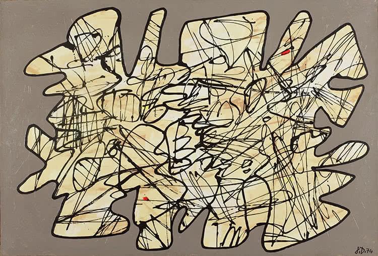 Parachiffre XXVII. Jean Dubuffet, 1974.