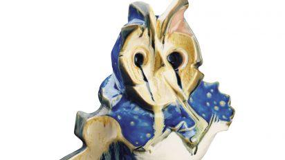 Lladró. Búho azul de Pablo Serrano. 1986.