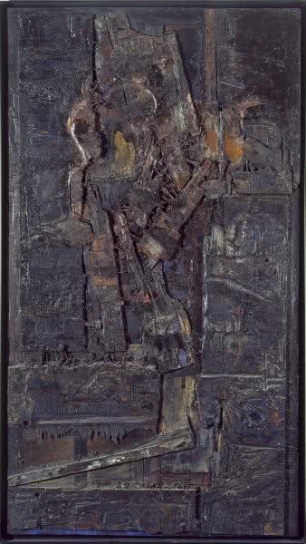 Lucio Muñoz. La muerte de la cigüeña. 1961. Museo Nacional Centro de Arte Reina Sofía.