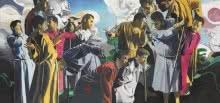 La lógica del sentido, 2014. Óleo sobre lienzo. 254 x 410 cm.