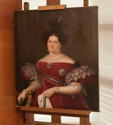 Retrato de la Reina María Cristina de Borbón, realizado en 1833 por Luis de la Cruz y Ríos. Foto © Museo Nacional del Prado.
