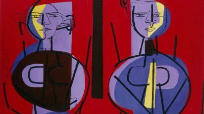 Luis Seoane Figuras estáticas, 1959. Col. Fundación Luis Seoane Foto: cortesía Fundación Luis Seoane.