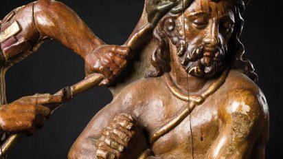 Relieve en madera tallada, policromada y dorada. Escuela Castellana. Siglo XVI.