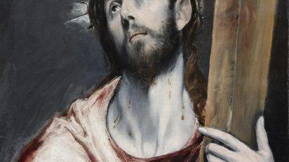 El Greco, 'Cristo con la cruz', 1585, óleo sobre lienzo. Colección particular.