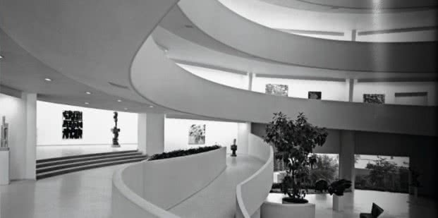 Frank Lloyd Wright. Interior Museo Guggenheim de Nueva York